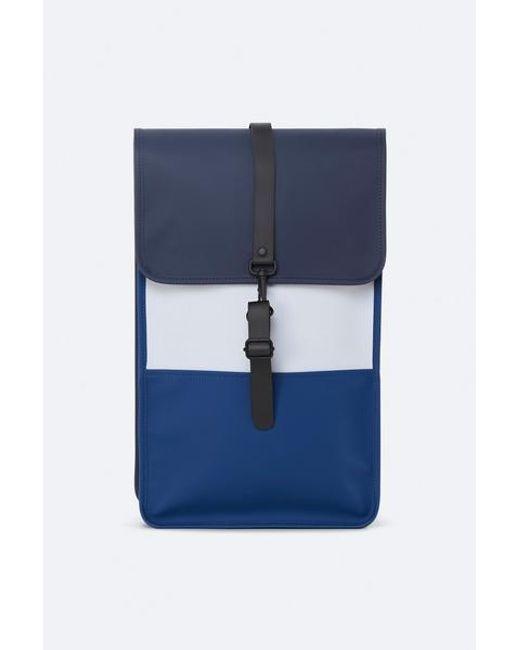 Sac à dos Color Block Bleu Gris Glacé Rains pour homme en coloris Blue