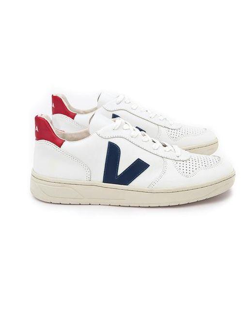 Chaussures Nautico Pekin V 10 en cuir extra blanc Veja pour homme en coloris Multicolor