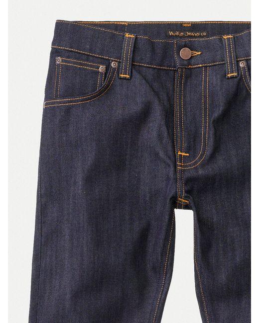 Jeans en denim pour hommes Finn Dry Dry en coton biologique écru Nudie Jeans pour homme en coloris Blue