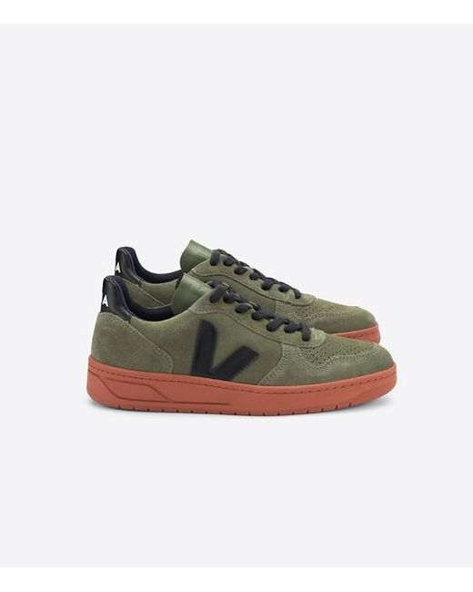 Sneaker V-10 Suede Olive Noir Semelle Rouille Veja pour homme en coloris Green
