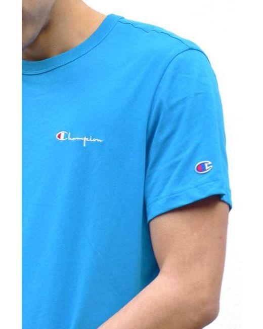 8ade7561 ... Champion - Blue Mens Bz 022 Crew Neck T Shirt for Men - Lyst