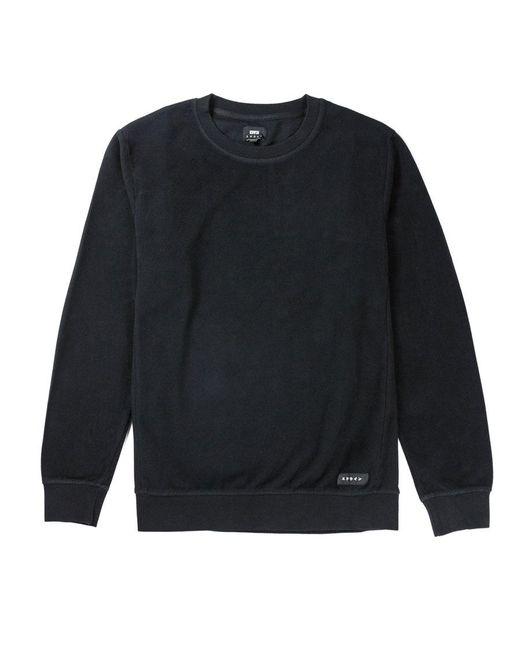 Edwin Black Cotton Brushed Garment Dye Nicki Sweater for men