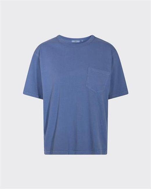 Maglietta squadrata Shara Dusty Blue di Minimum