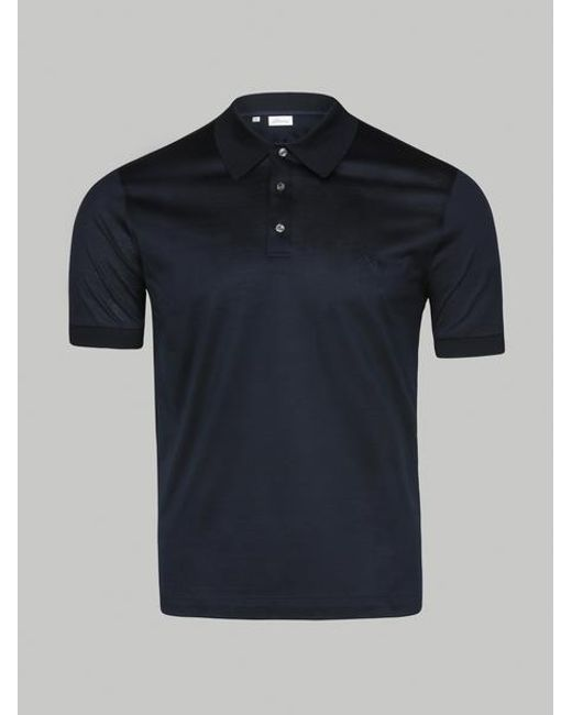 c7df94904 Brioni - Blue Navy Embroidery Polo for Men - Lyst ...