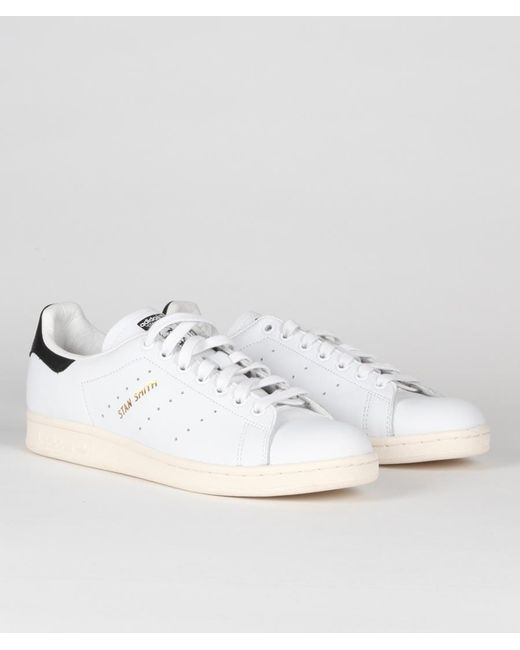 adidas White And Black Leather Originals Stan Smith Shoes