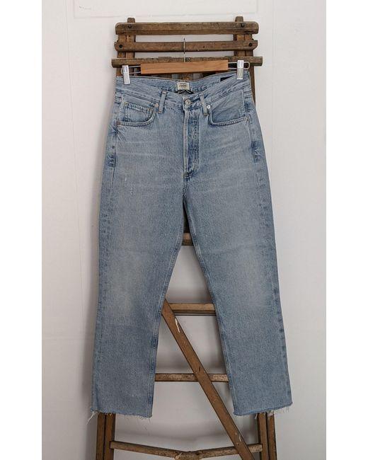 Jeans Charlotte Ever con taglio vivo, lavaggio chiaro di Citizens of Humanity in Gray