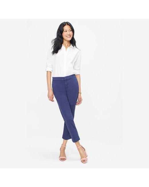 NYDJ Blue Everyday Trouser Peacoat Mspm 2197