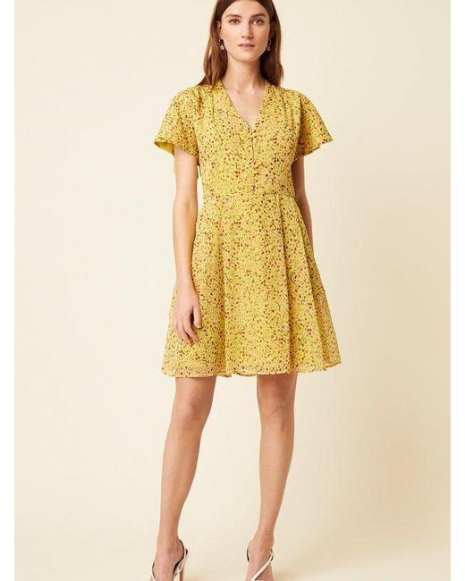 Great Plains Yellow Flo Dress In Citrus Lemon
