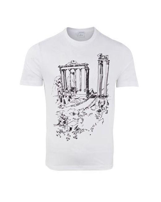 Maglietta Inkjet Roma Bianca di Brioni in White da Uomo