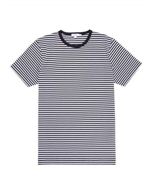 T-shirt à fines rayures Sunspel pour homme en coloris Multicolor