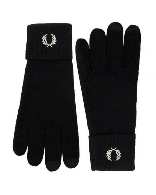 Gants en laine mérinos C2110 Fred Perry pour homme en coloris Black