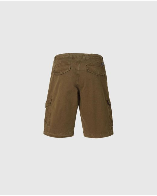 Woolrich Dark Green Cotton Cargo Shorts for men