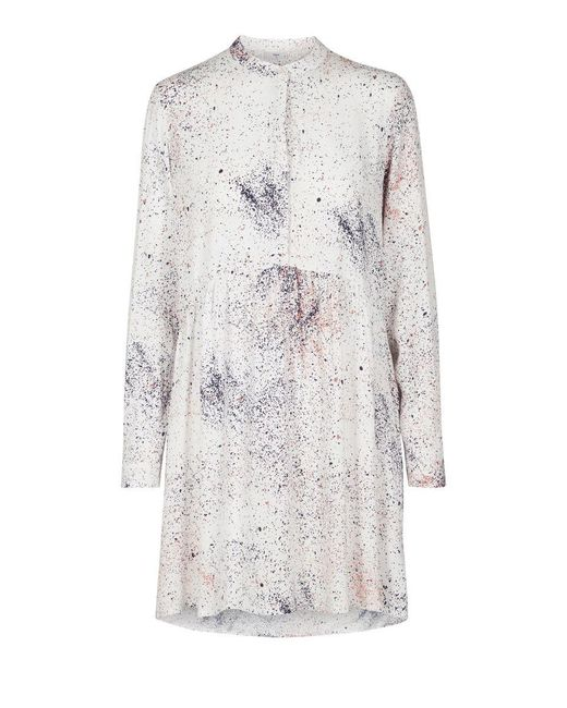 Minimum White Dress With Colored Spots Woman