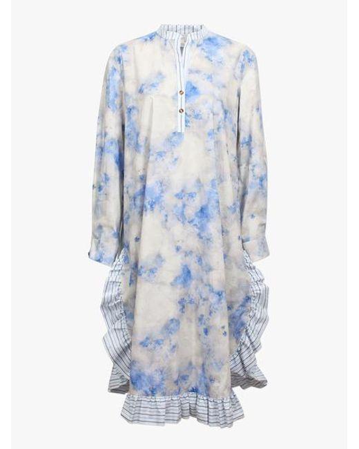 Baum und Pferdgarten Vestido camisero con volantes Aerionna Cloud Blue Sky de mujer de color azul