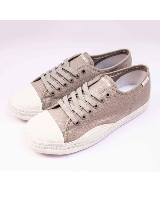 Tretorn Zapatos de lona de raqueta gris / blanco de mujer