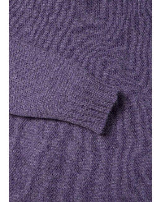 Tejido raglán Shetland sin costuras en Viola Albam de hombre de color Purple