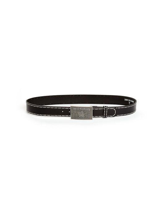 True Religion Black Big T Stitch Belt for men
