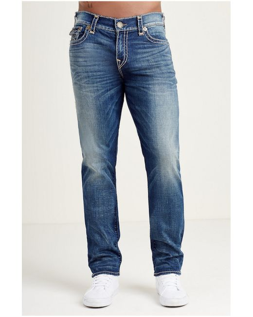 True Religion | Blue Distressed Jeans for Men | Lyst