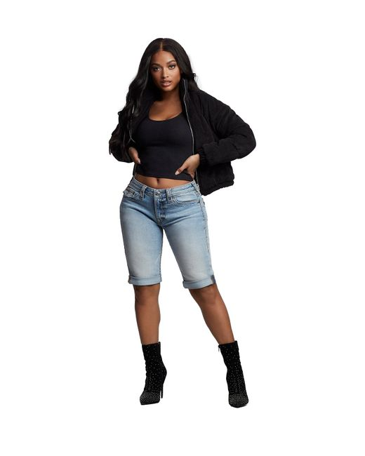 True Religion Blue Jennie Big T Knee Short