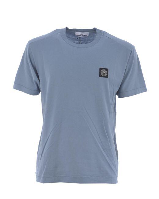 T-shirt di Stone Island in Blue da Uomo
