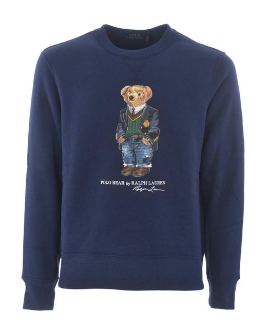 """Felpa """"Preppy Bear"""" di Polo Ralph Lauren in Blue da Uomo"""