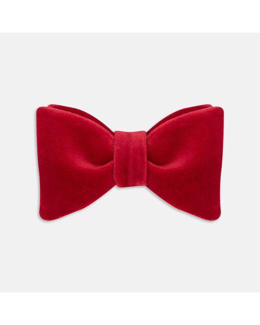 Turnbull & Asser - Red Velvet Bow Tie for Men - Lyst