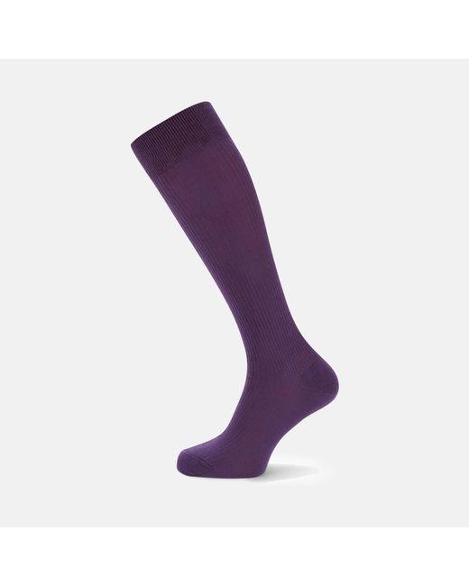 Turnbull & Asser | Purple Long Wool Socks for Men | Lyst