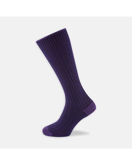 Turnbull & Asser | Purple Knitted Wool Socks for Men | Lyst