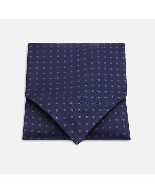 Turnbull & Asser | Blue Navy And Purple Spot Silk Ascot Tie for Men | Lyst