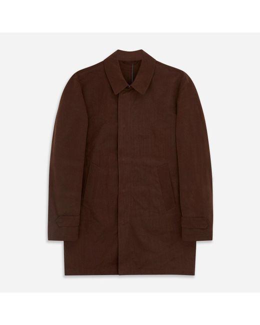 Turnbull & Asser Brown Burgundy Grayson Car Coat for men