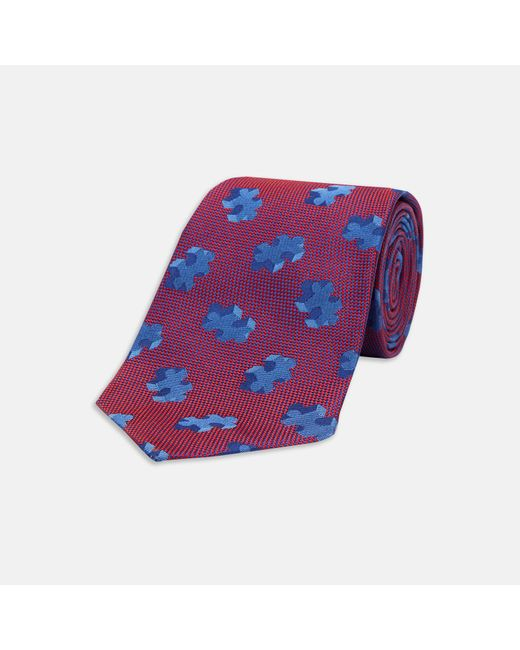 Turnbull & Asser | Purple 3d Puzzle Burgundy And Blue Silk Tie for Men | Lyst