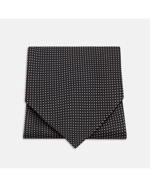 Turnbull & Asser - Gray Black And White Small Spot Silk Ascot Tie for Men - Lyst