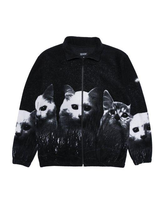 RIPNDIP Black Rip N Dip Majestic Field Of Cats Jacket for men