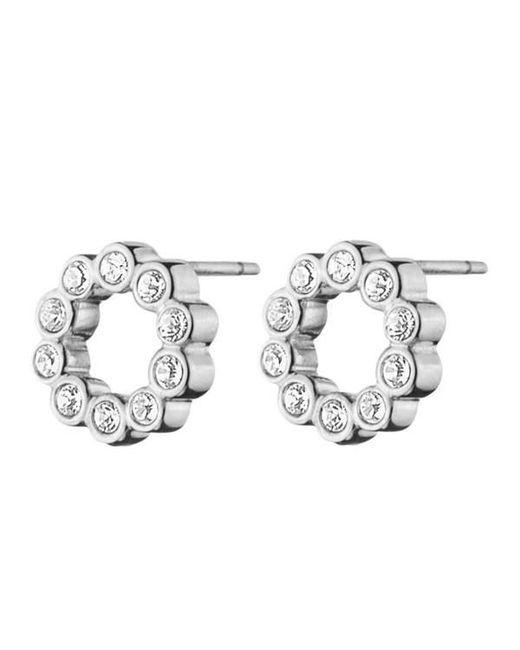 Dyrberg/Kern - Metallic Sally Flower Crystal Earrings - Lyst