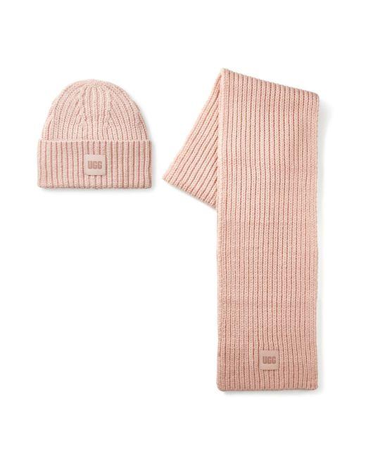 Chunky Rib Knit Chapeaux pour Ugg en coloris Pink