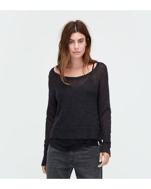 Ugg | Black Women's Mohair Scoop Neck Sweater | Lyst