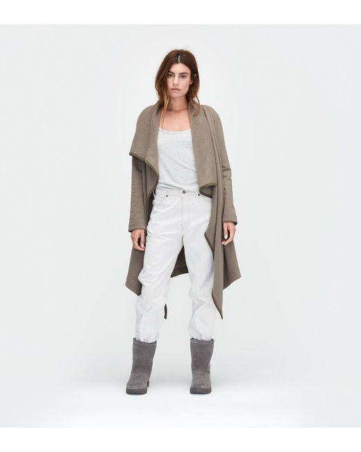 Ugg   Green Women's Fleece Blanket Cardigan   Lyst