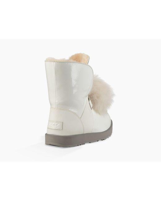bbbfdf103e0 Women's White Isley Patent Waterproof Boot Isley Patent Waterproof Boot