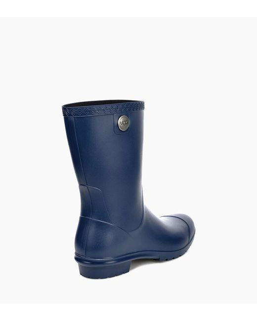 96a85772e36 Women's Blue Sienna Matte Rain Boot Sienna Matte Rain Boot Pom Pom Short  Rainboot Sock