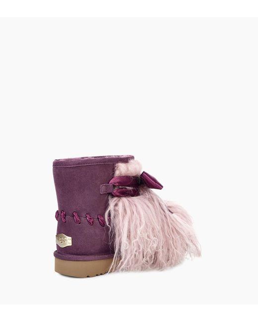 5393e97e5c5 Women's Purple Classic Mini Mongolian Boot Classic Mini Mongolian Boot