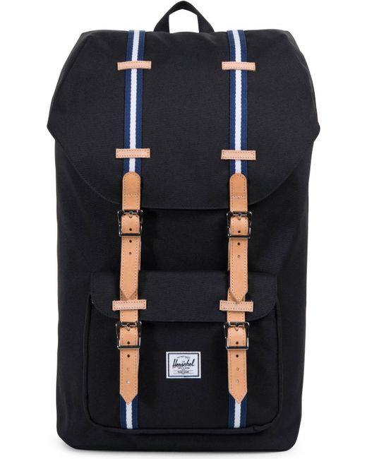 Herschel Supply Co. - Black Little America Offset Backpack Bag for Men - Lyst