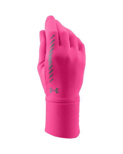 Under Armour | Pink Layer Up Liner Gloves | Lyst