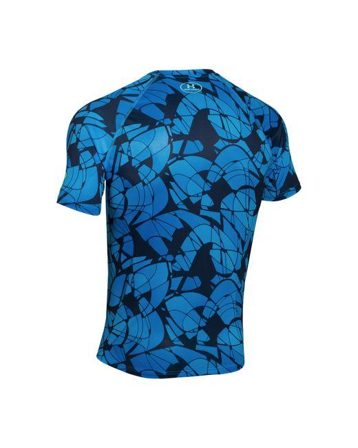under armour mens sc30 logo tshirt in blue for men lyst