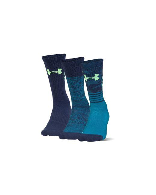 Under Armour | Blue Men's Sc30 Phenom Crew Socks for Men | Lyst