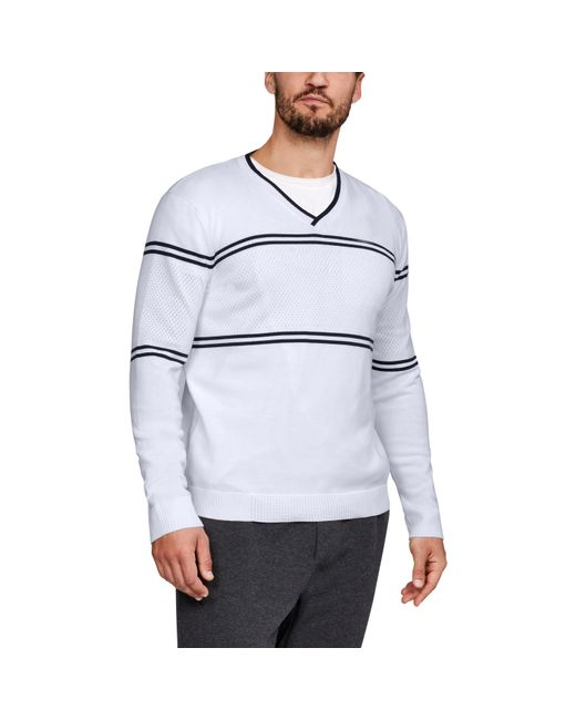 Under Armour - White Men's Ua Sportswear V-neck Sweater for Men - Lyst