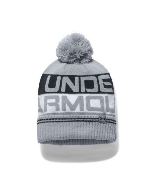 Under Armour - Gray Men's Ua Retro Pom 2.0 Beanie for Men - Lyst
