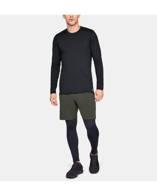 Under Armour Herren ColdGear® Crew, enganliegend Schwarz SM in Black für Herren