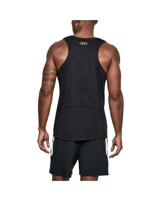 Under Armour - Black Swyft Running Sleeveless Shirt for Men - Lyst