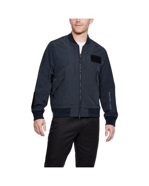 Under Armour - Blue Men's Uas Nylon Bomber Jacket for Men - Lyst