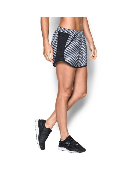 Under Armour | Black Women's Ua Fly-by Printed Run Short | Lyst